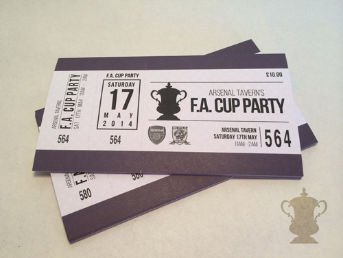 printed football tickets