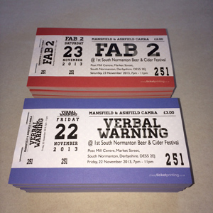 printed tickets