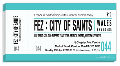 Fez city of saint printed tickets