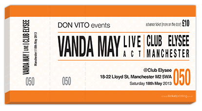 tickets for Vanda May Live in Leeds
