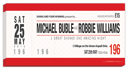 tickets for Michael Buble and Robbie Williams in Manchester