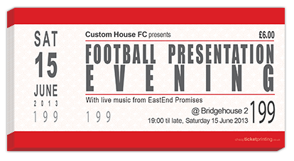 football presentation tickets